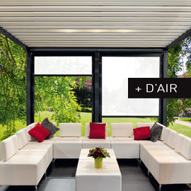 store enrouleur exterieur pour pergola bioclimatique pergolair. Black Bedroom Furniture Sets. Home Design Ideas